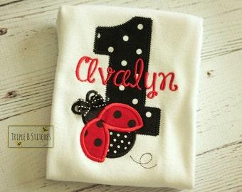 Ladybug birthday shirt-Ladybug birthday onesie-Ladybug Birthday-first birthday ladybug-ladybug birthday shirt
