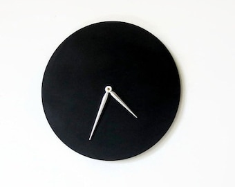 Wall Clock, Minimalist Black Clock, Wood Clock, Trending,  Decor and  Housewares, Home and Living