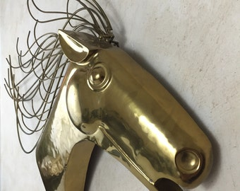 C Jere Signed Horse Sculpture Mid Century Modern Metal Wall Decor
