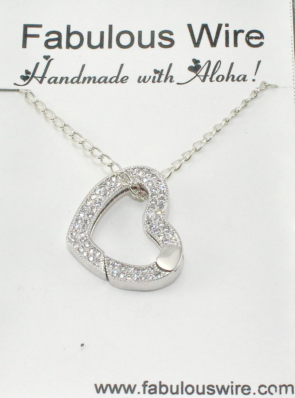 Heart Ring Holder Necklace