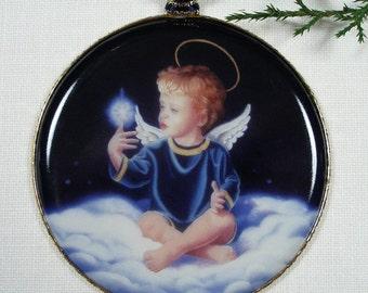 Angel Christmas Ornament, Star Light Star Bright Angel