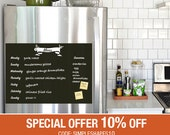 Meal Planner Chalkboard Decal, Meal Plan Decal, Menu Decal, Vinyl Wall Decal, Refrigerator Decal, Weekly Menu Planner - by Simple Shapes