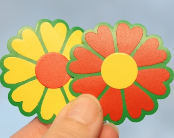 Die cut flower shape stickers,  embellishment and decoration