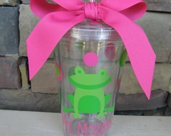 Personalized Teacher Tumbler- Frog Gifts
