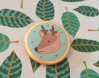Deer Wildlife Pin Badge - 38mm