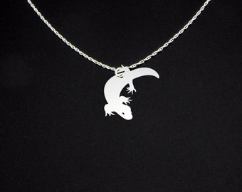 Gila Monster Necklace - Sterling Silver