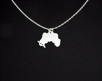 Sea Slug Necklace - Sterling Silver