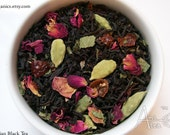 Persian Tea/ Organic Black Tea / Roses + Cardamom / Hand Blended / Loose Leaf