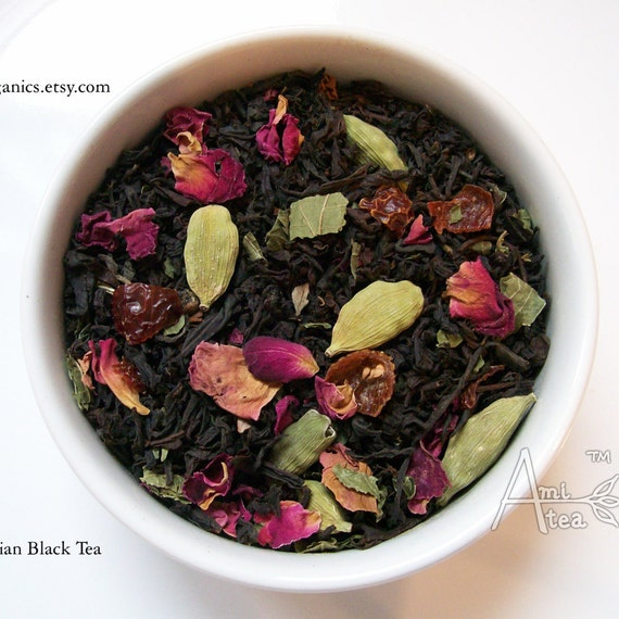 Organic tea persian rose loose leaf black tea by for A treasury of persian cuisine