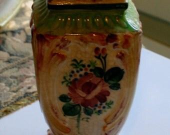 HATPIN HOLDER Vintage Hand Painted Hatpin Holder