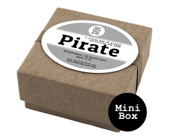 Mini Pirate Box, Pirate Themed Party Favor, Pirate Party, Pirate Birthday, Party Favors for Kids, Beach Party, Kids Party, Summer Party