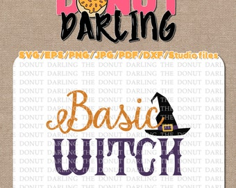 Instant Download: Basic Witch, Halloween File Cutting Files Roland Cricut etc. svg / eps / pdf / dxf / png / jpg / Halloween SVG