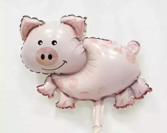 pig balloon pink pig balloons animal balloons pink pigs