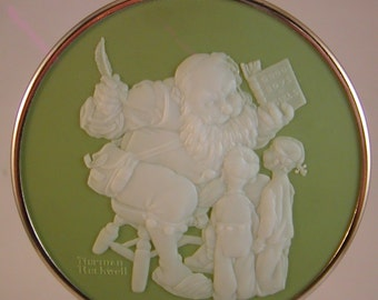 "Hallmark 1980 Santa's Visitors"" First in Series Normal Rockwell Collect Box Good"