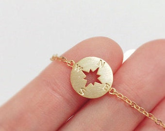 Compass anklet, best friend anklet, Nautical Jewelry, summer anklet