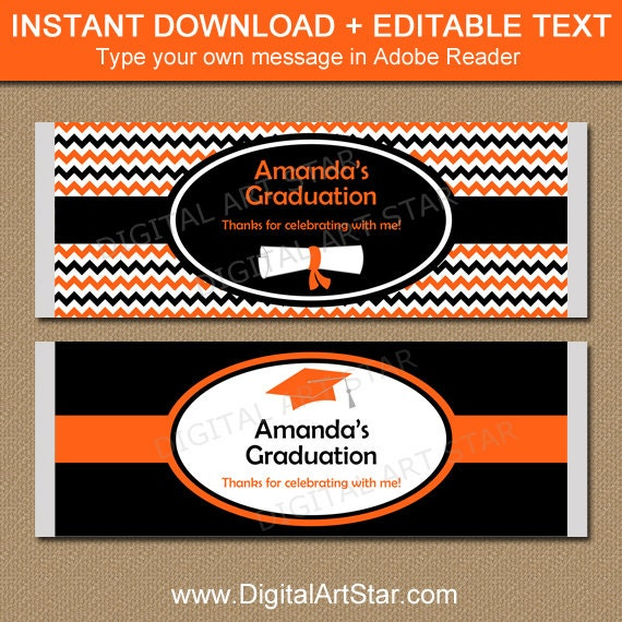 Graduation candy bar wrapper template college graduation for Free printable graduation candy bar wrappers templates