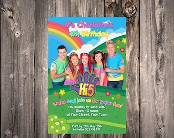 HI 5 New team cast Invitation: Digital File print your self