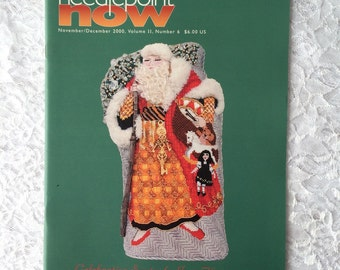 Needlepoint Now Magazine, November December 2000, Craft Pattern Back Issues, Christmas and Hanukkah Ornaments