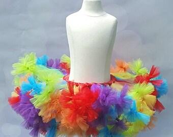 Rainbow Tutu - Rainbow Pettiskirt - Infant Rainbow Tutu - Rainbow Petti Tutu - Petti Tutu - Tutu - Toddler Rainbow Tutu - Tulle Pettiskirt