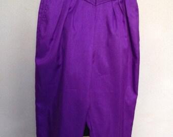 Vintage purple pants detailed high waist by Jeanne Marc sz 8/10 small