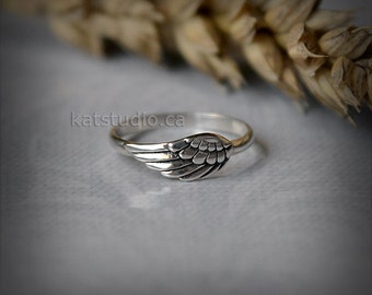 Angel wing ring - silver wing - wing ring - sterling silver 925 - Jewelry by KatStudio