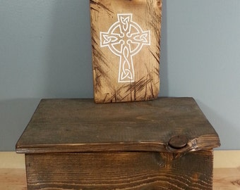 Painted cross on very rustic board - Christian Sign - Rustic, Hand Painted, Distressed