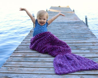 MERMAID TAIL Blanket  - Child Mermaid Tail Cocoon - Mermaid Blanket