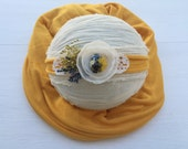 Mustard wrap and tieback~Baby wrap~Baby props~Photo props~Props~Photography props~Newborn props~Fall props~Headband~Tieback headband~Autumn