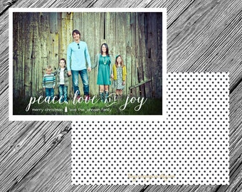 Simple • Modern • Chic Christmas or Holiday Photo Card {Printable • Two-Sided • Customizable • DIY}
