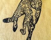 running cheetah children's T-shirt