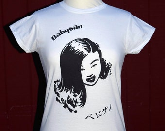 Baby San Vintage  Inspired and Styled Ladies T Shirt