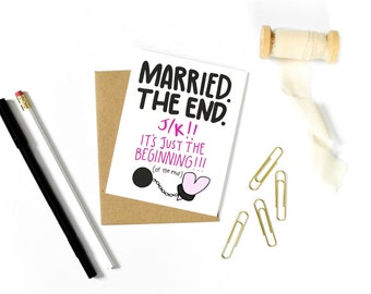 Funny Bridal Shower Card - Funny Marriage Card - Funny Wedding Card - Funny Wedding Shower Card - Funny Wedding Card