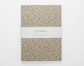 TERRAIN V geometric eco-friendly journal A5 with lined pages