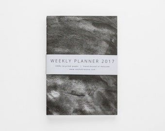 2017 WEEKLY PLANNER small / simple minimalist black and white planner