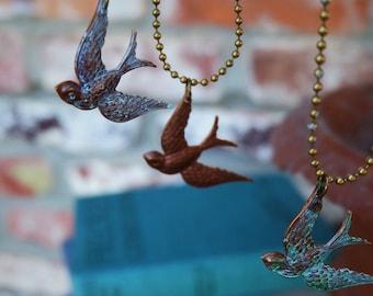Sparrow Pendant Necklace