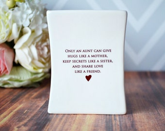 Unique Aunt Gift, Gift for Aunt, Aunt Birthday Gift or Aunt Wedding Gift,  - SHIPS FAST - Square Vase - with Gift Box