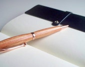 Hand-turned tulipwood wooden pen