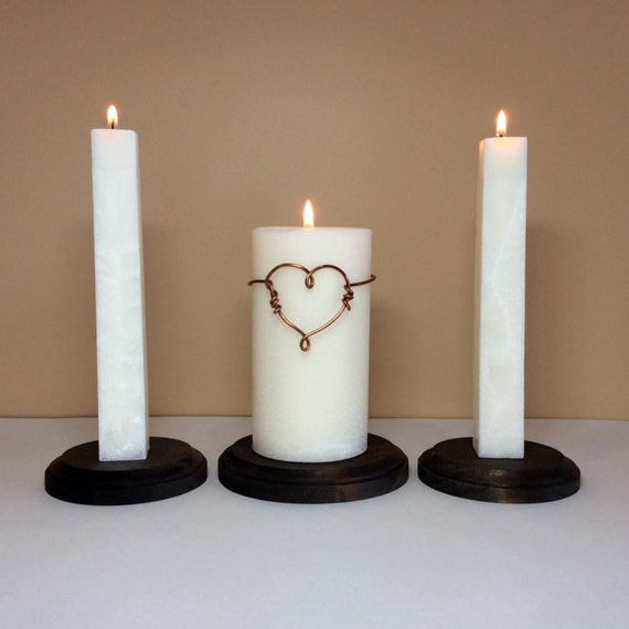Unity Wedding Ceremony Candles Set And Stand Modern Wire