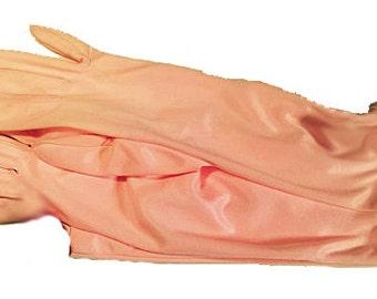 Clear PINK PASTEL Cotton Blend OPERA Gloves/Ballroom Gloves-6.5 - 7.5 Size