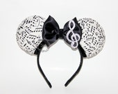 Musical Mouse Ears // Musical Note Mouse Ears // Rockstar Mouse Ears // by Born Tutu Rock