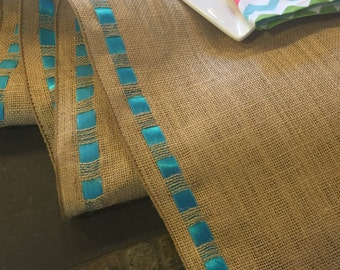 "Burlap Ribbon Table Runner - Premium Burlap - 12"" wide by 60"" long Natural Burlap - Holiday - Wedding or Party -  burlap runners"
