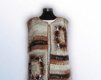 Vest,Crochet Women Vest,Boho vest,crochet vest,Lace crochet Hippie vest,stripy vest, hand crochet vest,urban boho,boho