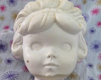 Edward Mobley, Little Girl, head only, original sculpture, wax mold, one of a kind