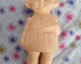 Edward Mobley, little girl prototype never produced, squeak toy, rubber toy