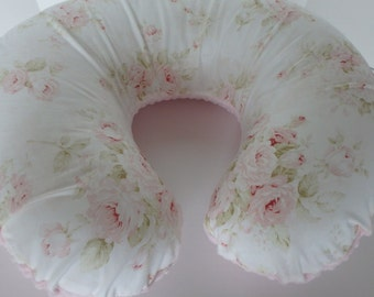 Shabby Chic Vintage Roses Boppy Cover With Personalization Option