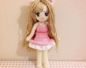 Crochet Hair For Dolls : ONE PIECE Anime Doll Pattern NAMI Amigurumi Crochet by Sylemn