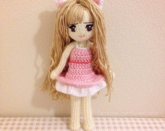 Crochet Hair On Dolls : ONE PIECE Anime Doll Pattern NAMI Amigurumi Crochet by Sylemn