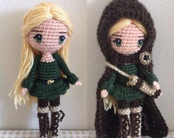 Amigurumi Female Body : 12 Slender Doll Base Amigurumi Crochet Pattern for by Sylemn