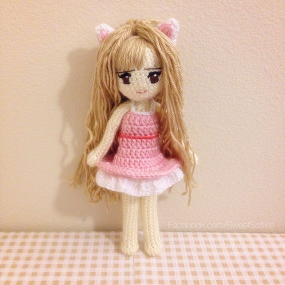 Amigurumi Anime Doll Pattern : Amigurumi Crochet Doll Pattern Anime Kiki the Kitty Cat by ...