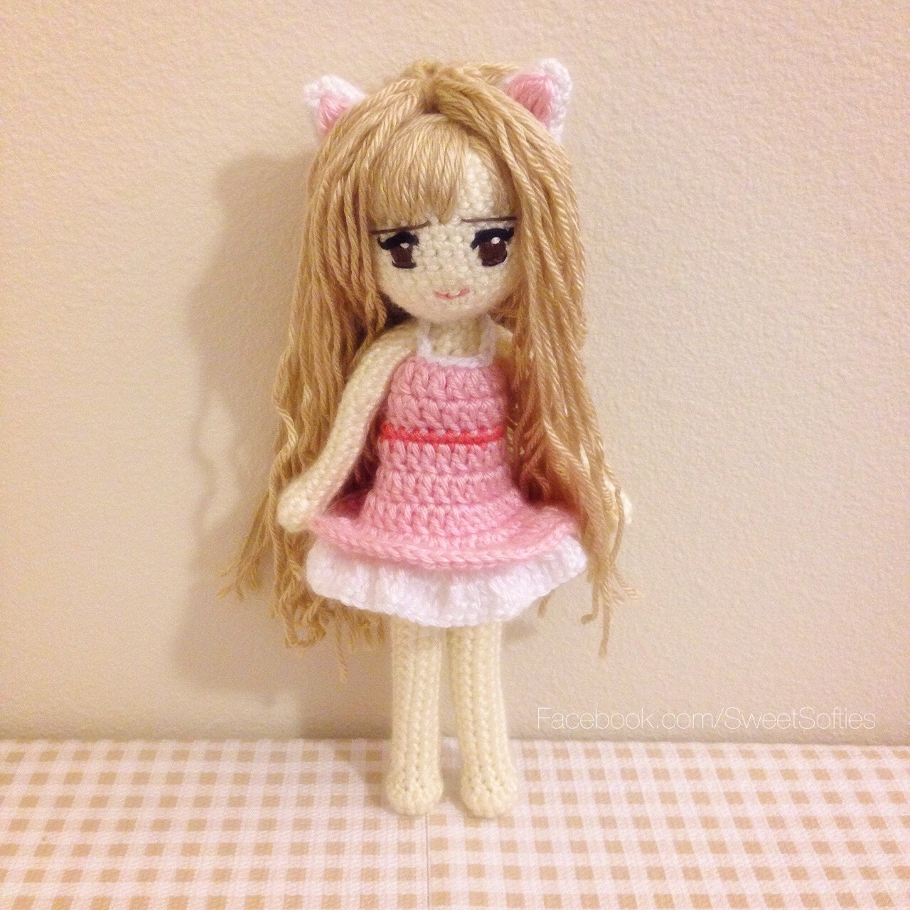 Crochet Pattern Human Doll : Amigurumi Crochet Doll Pattern Anime Kiki the Kitty Cat by ...